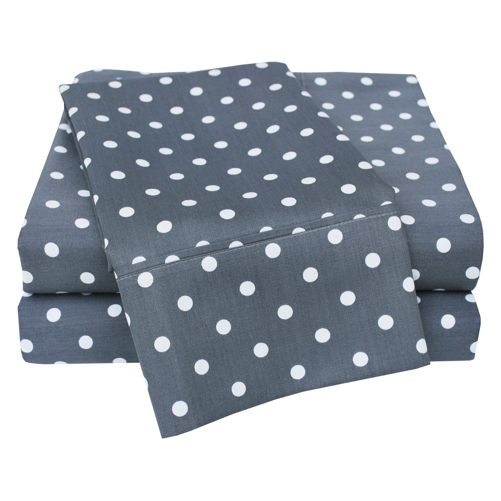 Superior 600 Thread Count Polka Dot Sheet Set by Home City