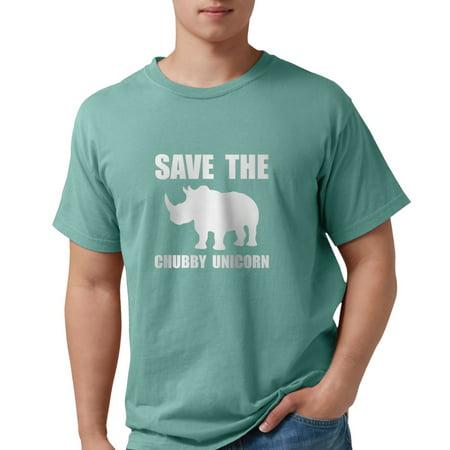 Rhino Soft Top - CafePress - Chubby Unicorn Rhino T-Shirt - Mens Comfort Colors? Shirt