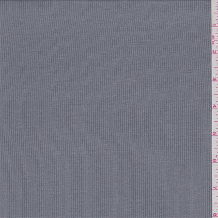 (Stone Grey Rayon Rib Knit, Fabric By the Yard)