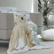 Maison Condelle Lauren Taylor - Wildlike Micromink Polar Bear Throw
