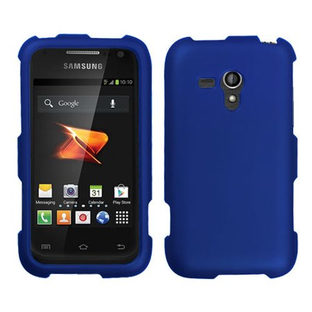 Rubberized Blue Snap - For Samsung Galaxy Rush M830 Rubberized HARD Case Snap On Phone Cover Blue