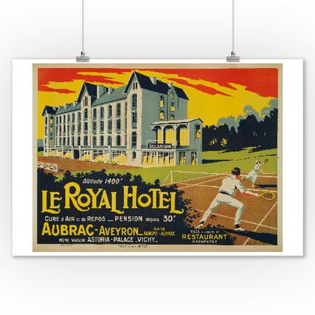 Le Royal Hotel - Aubrac - Aveyron Vintage Poster (artist: Serre) France (9x12 Art Print, Wall Decor Travel Poster)