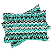 Madart Turquoise Chevron 2 Piece Pillow Sham by Deny Designs