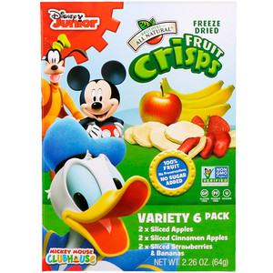 Brothers-All-Natural, Disney, Fruit-Crisps Variety Pack, 6 Single Serve Bags(pack of 1)
