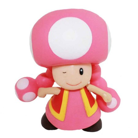 Super Mario Brothers Toadette 3.5' Figure - Walmart.com ...