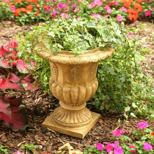 Round Resin Traditional Topiary Urn Planter