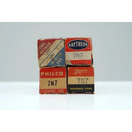 4 Vintage 7N7 / CV898 Loctal Twin Triode Preamp Tube Valve - BangyBang Tubes