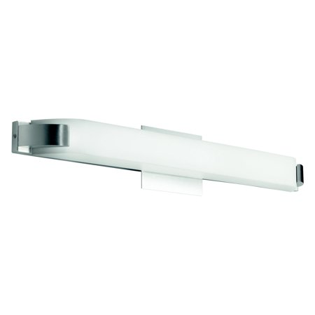 Kichler Nickel Bathroom Bulbs (Kichler Nobu 1041 Vanity - Brushed Nickel)