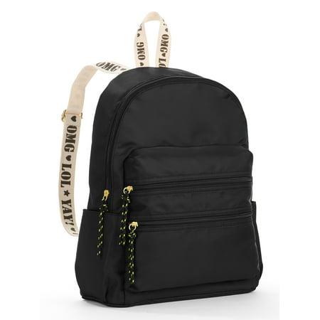 Lesportsac Nylon Backpack (Twig & Arrow Black Nylon Strap Detail)