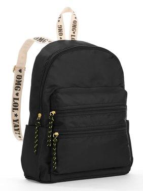 b5553f6fc0 Product Image Twig   Arrow Black Nylon Strap Detail Backpack