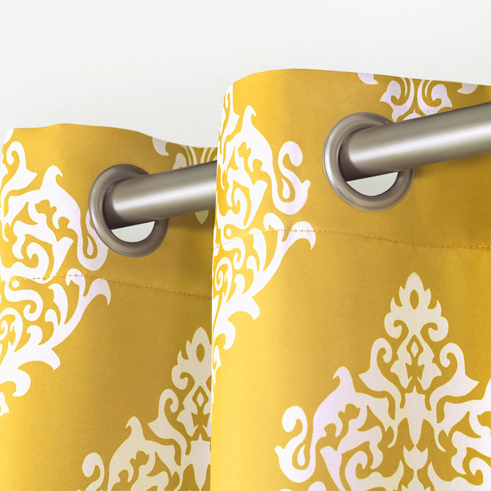Exclusive Home Curtains 2 Pack Medallion Blackout Grommet Top Curtain Panels