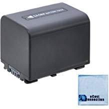 NP FV70 3800mAh InfoLithium V Series Li Ion Battery Microfiber Cloth for Sony HDR CX350E HDRCX350E CX350E (3800mah Li Ion Battery)