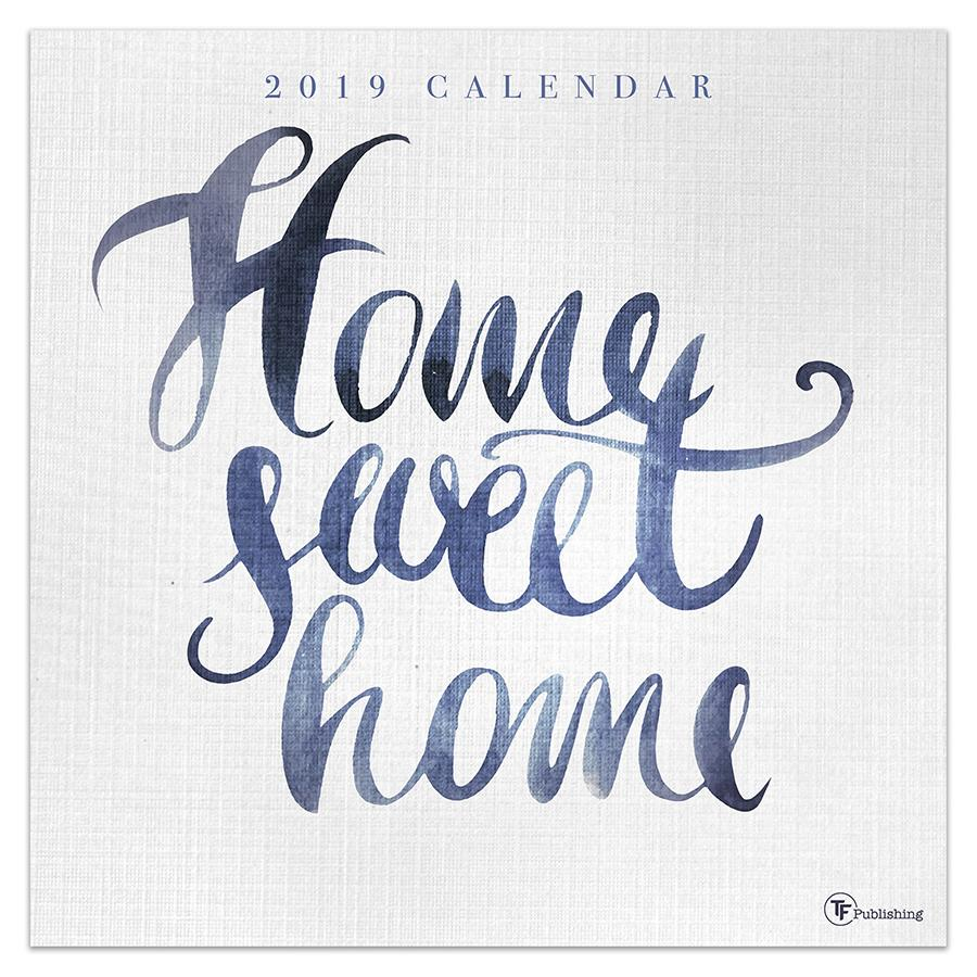 "2019 Home Sweet Home 12"" x 12"" January 2019-December 2019 Wall Calendar"