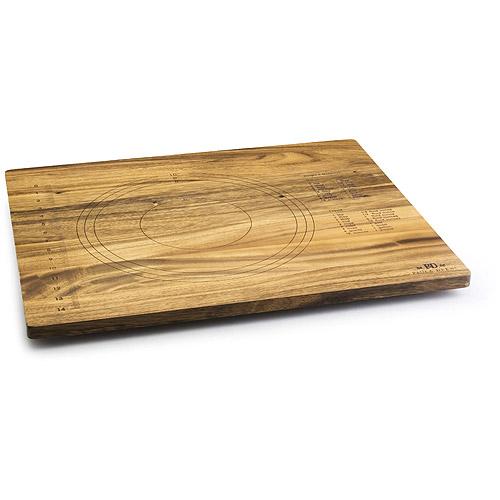 Paula Deen 18'' x 22'' x 3/4'' Pie Cutting Board, Acacia