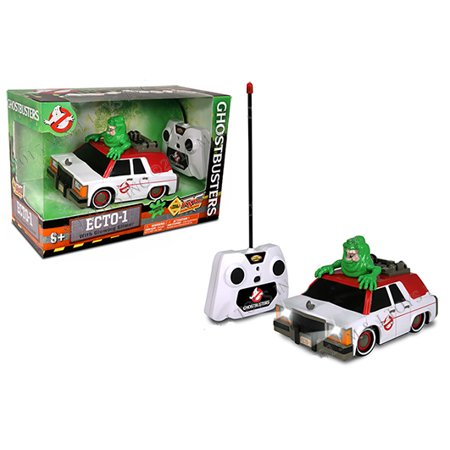 NKOK RADIO CONTROL - GHOSTBUSTERS ECTO-1 WITH GLOWING (Ghostbusters Rc Ecto 1 With Glowing Slimer)
