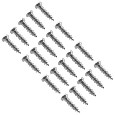 Seismic Audio Chrome Replacement Screws for Bass Guitar Pickguard Cover 20 Pack - SAGA03-20Pack Bass 10 Hole Pickguard