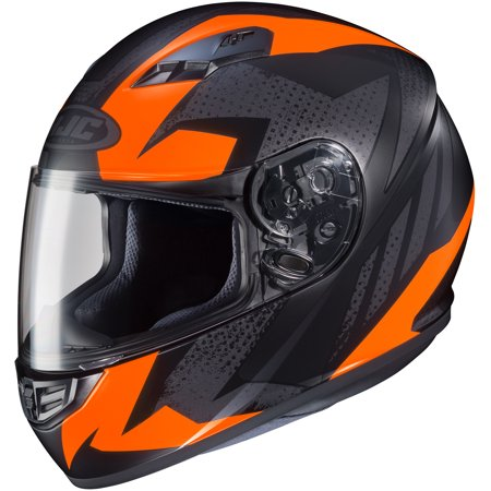 HJC CS-R3 Treague Helmet Flat Hi-Viz Bright Orange (MC-6HF) (Orange,