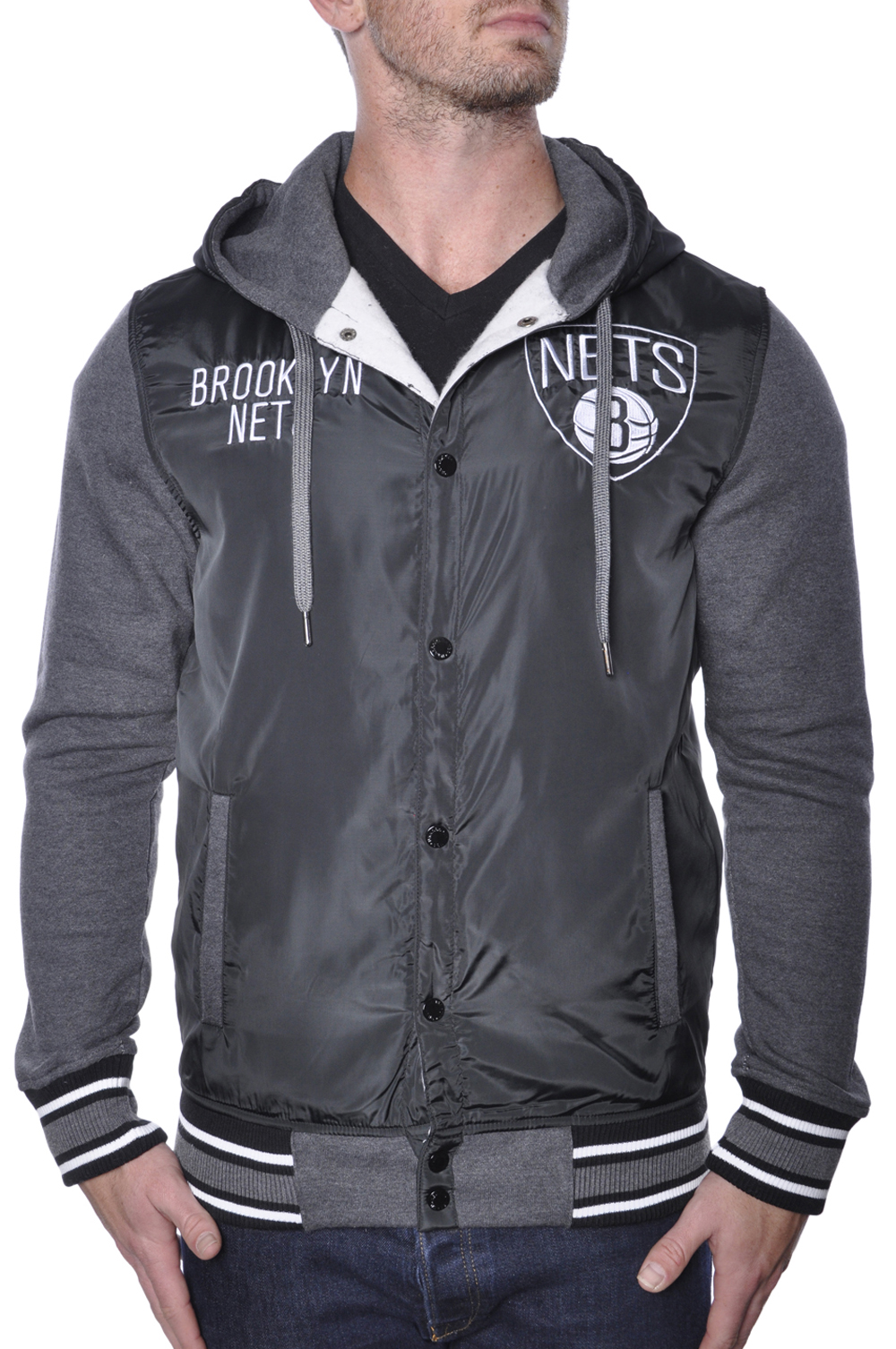 Brooklyn Nets Varsity Jacket Mens Basketball Hoodie Licensed NBA by OFFICIAL LICENSED NBA