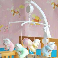 VicTsing Rotary Baby Crib Mobile Bed Bell Toy Holder Arm Bracket Hanging Music Box White(Plush toys not included)