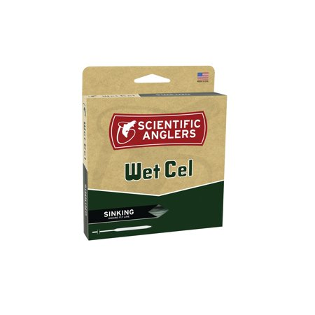 Scientific Anglers WetCel Sinking Fly Line, WF, S, Blk, Sink