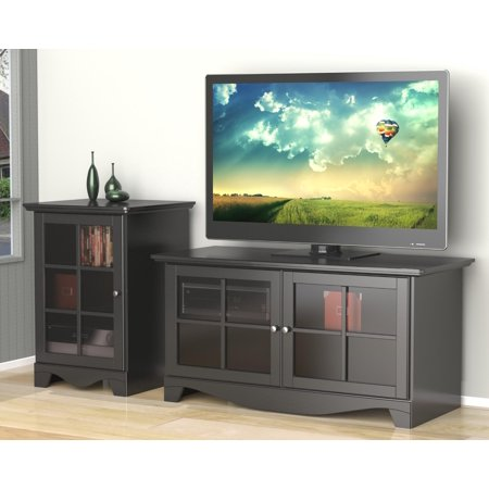 "Pinnacle 49"" TV Stand with an 1-Door Audio Tower-Finish:Black"