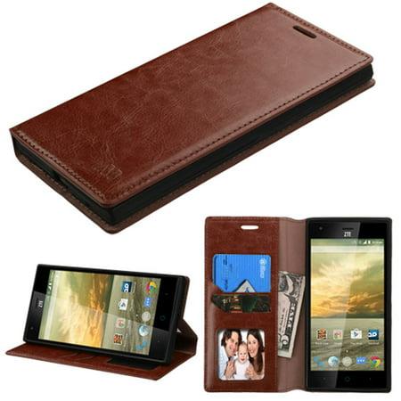 ZTE Warp Elite Phone Case, ZTE Warp Elite Case, by Insten Leather Cover Case with Card slot & Photo Display For ZTE Warp Elite case cover - image 3 of 3