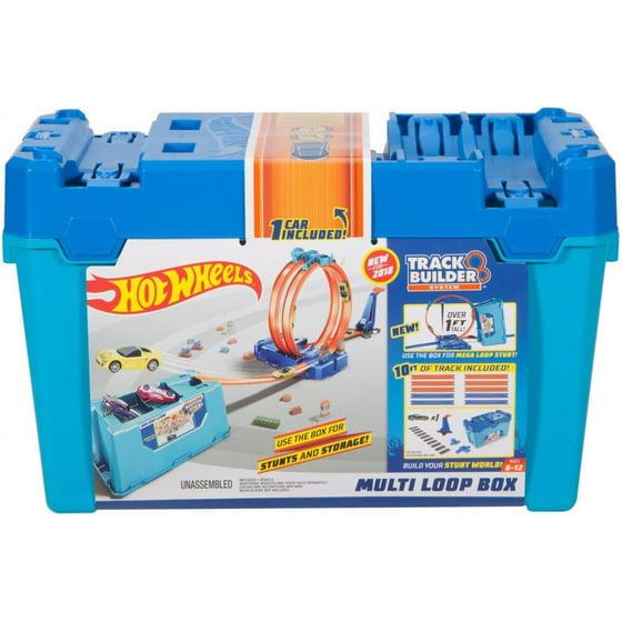 a9abb389221 Hot Wheels Track Builder Multi Loop Stunt Box with 1-Vehicle - Walmart.com