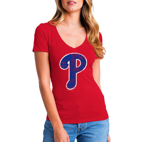MLB Philadelphia Phillies Women's Short Sleeve Team Color Graphic Tee