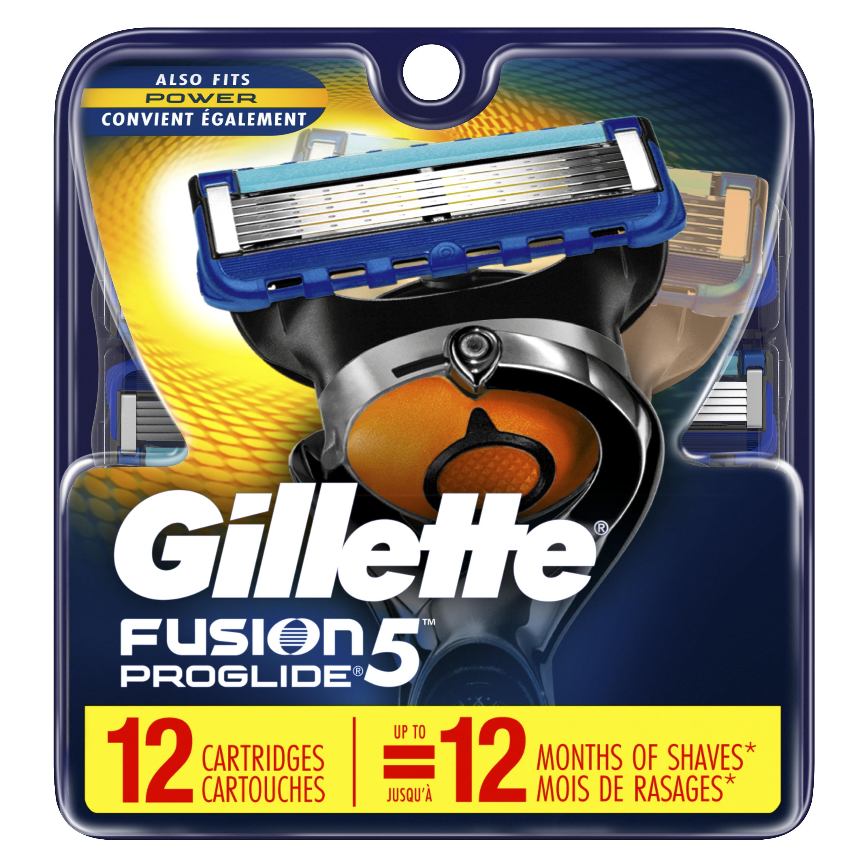 Gillette Fusion5 ProGlide Men's Razor Blades – 12 Refills