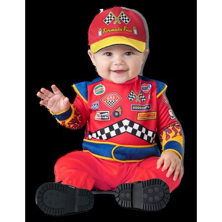 Baby Halloween Costume Racecar Driver Burnin Rubber LG 18-24 months