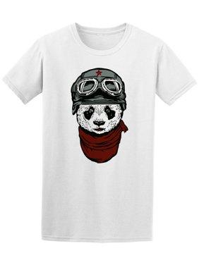 Panda With Helmet Tee Men's -Image by Shutterstock