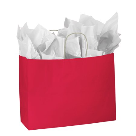 Large Glossy Red Paper Shopping Bags - Case of 25](Red Paper Bags)