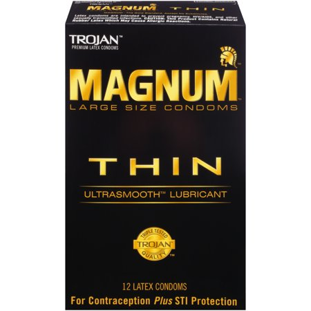 - MAGNUM Thin Condoms, 12ct