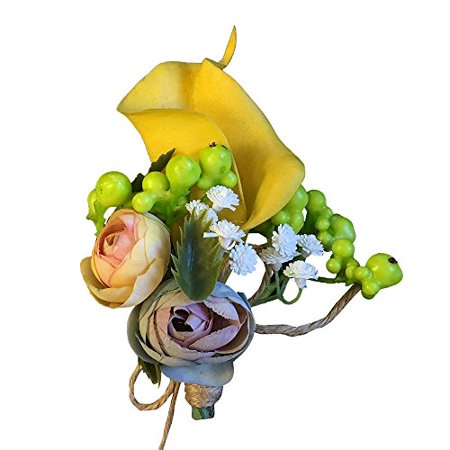Boutonniere-Boutonniere-Keep sake Artificial flower with real touch calla lily and berries