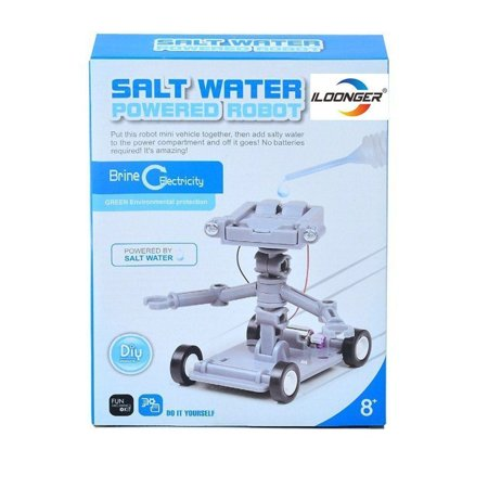 Electricity Kit - Salt Water Powered Robot Kit Brine Electricity Green Energy Science Recycle Toy