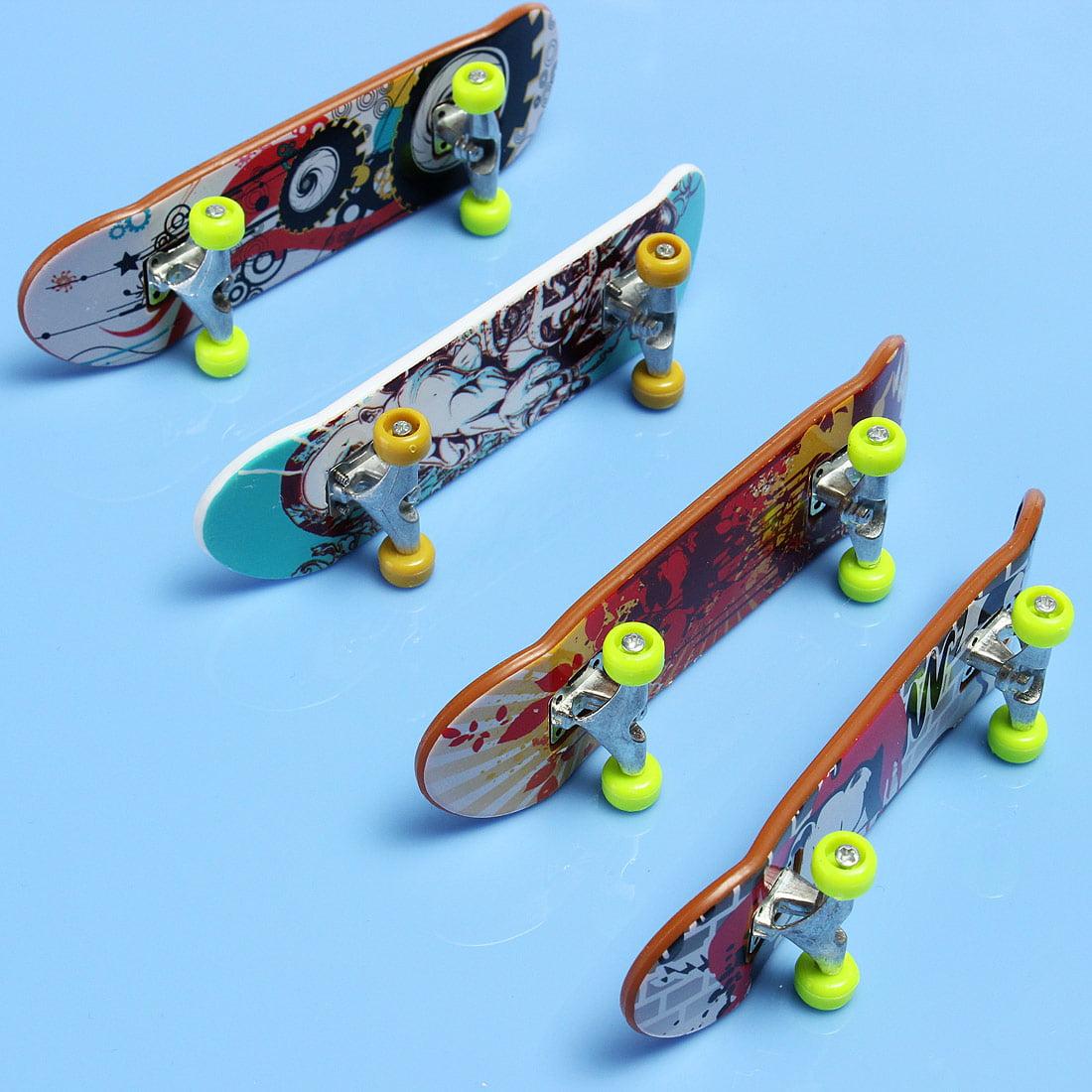 6 Pack Portable Mini Skateboard Random Pattern Finger Board Boy Kids Children Brain Development Games Toy Birthday Gift