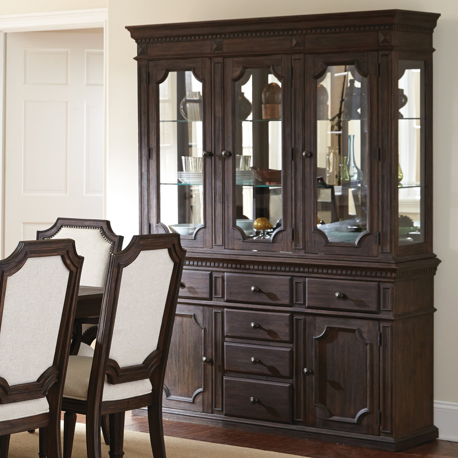 Steve Silver Cayden Dining Buffet with Optional Hutch - D...