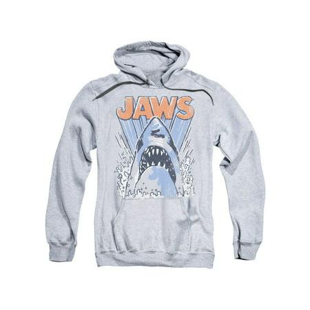 Jaws 1970s Thriller Movie Vintage Shark Teeth Splash Logo Adult Pull-Over Hoodie