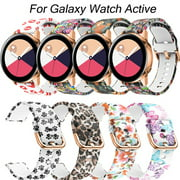Replacement Silicone Wrist Bands Strap For Samsung Galaxy Watch Active Replacement Soft Silicone Sport Wrist Band Straps,Women Replacement Wristbands Strap