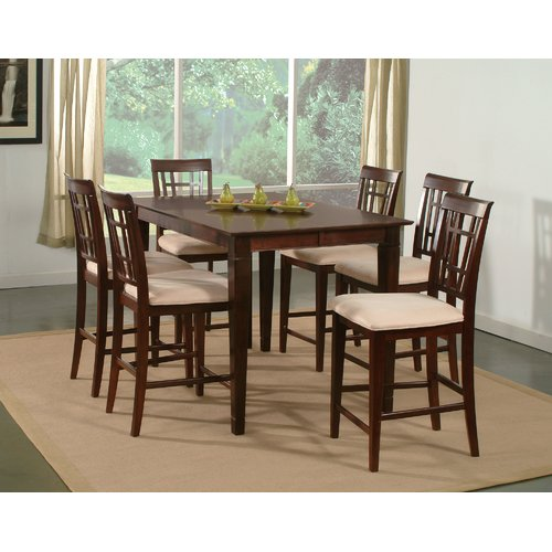 Darby Home Co Bluffview 7 Piece Counter Height Solid Wood Dining Set