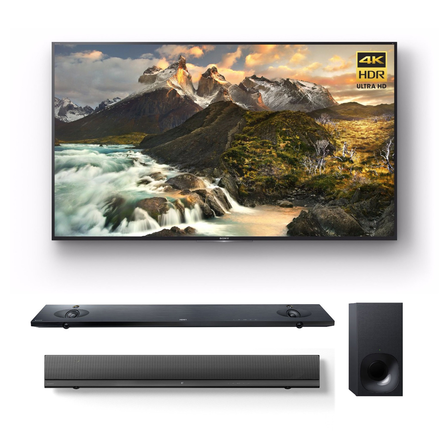 """Sony Z9D 75"""" 4K HDR Ultra-High Definition Android TV + HTNT5 Sound Bar"""