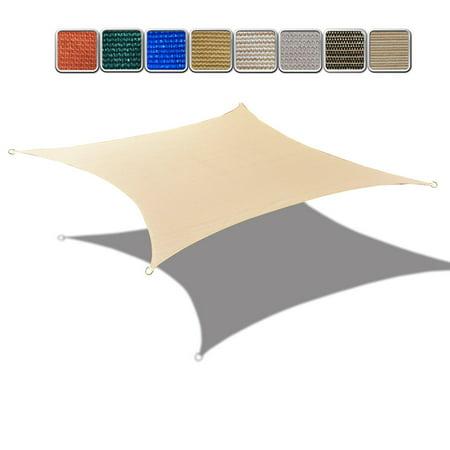 Banha Beige HDPE UV Block Sun Shade Sail Permeable Rectangle Canopy for Pool Outdoor Patio Garden  6' x 10' ()