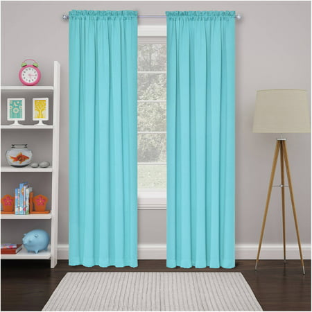 Pink Tab Top Curtains - Eclipse Thermal Blackout Tricia Window Curtain Panel Pairs