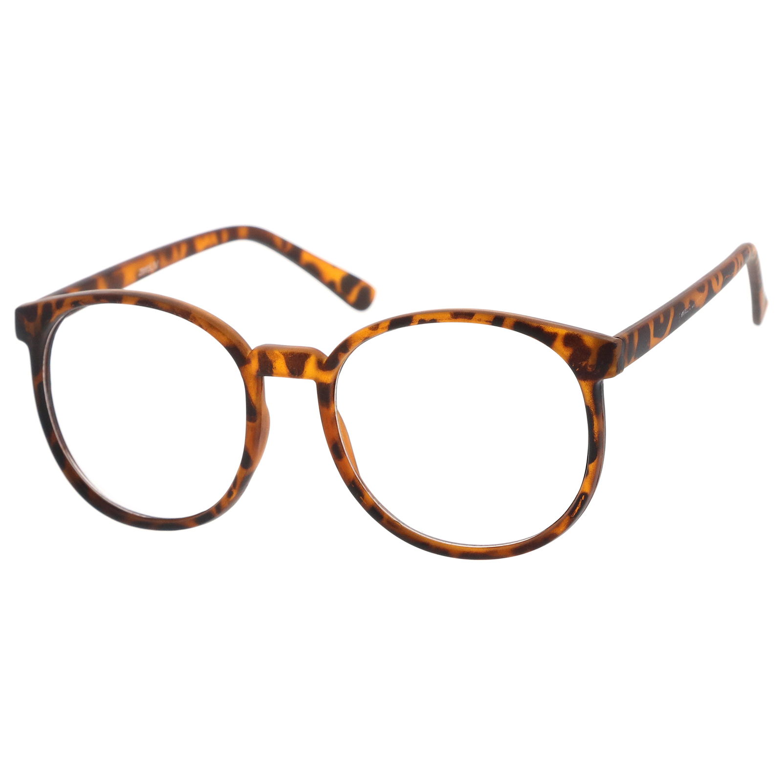 9480c85fabab4 zeroUV - Classic P3 Horn Rimmed Clear Lens Round Eyeglasses 53mm - 53mm -  Walmart.com