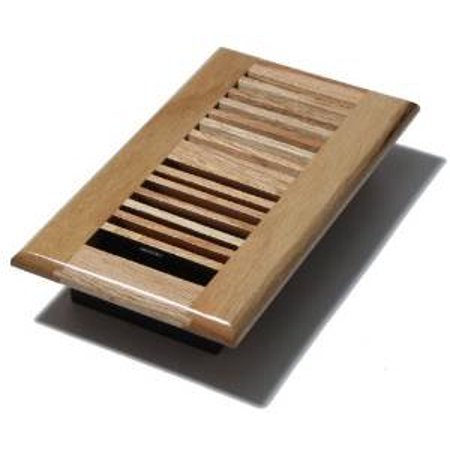 V412-BO - 4-Inch by 12-inch Wood Louver Floor Register - Vent Butterscotch/Light