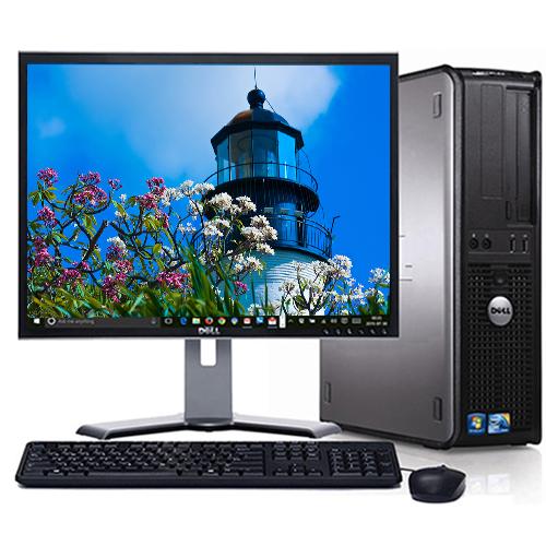 Dell Optiplex Desktop PC System Windows 10 Intel Core 2 Duo 2.13GHz Processor 4GB RAM 160GB Hard Drive DVD Wifi with a 17