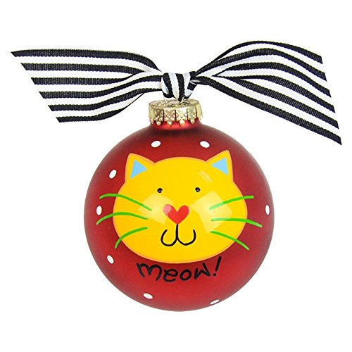 Cat's Meow Glass Ornament