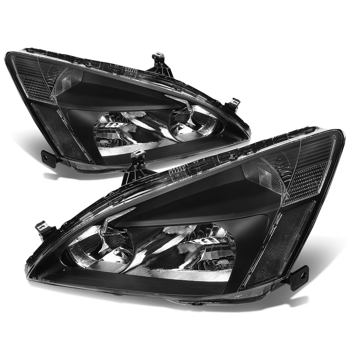 For 03-07 Honda Accord Replacement HeadLight Lamp Assembly (Black Housing) - 7th Gen UC1 04 05 06