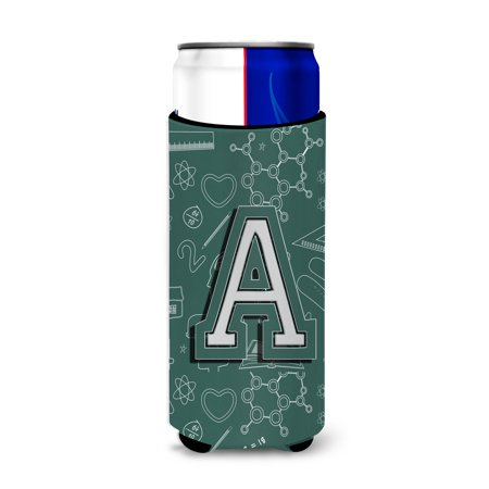Letter A Back to School Initial Ultra Beverage Insulators for slim cans CJ2010-AMUK