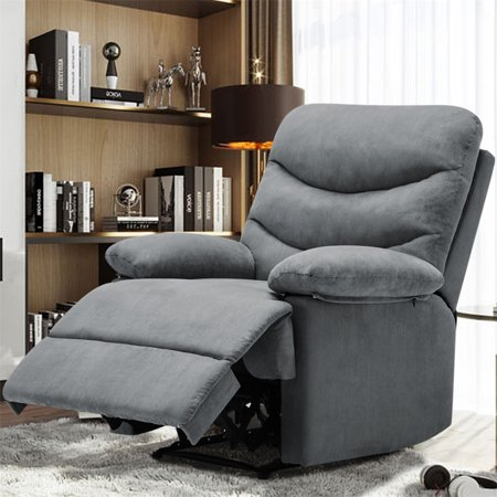 Massage Recliner Chair, Microfiber Ergonomic Chair Living Room Sofa with Vibrating Control Home Theater Seating, Grey Reclining 3 Seat